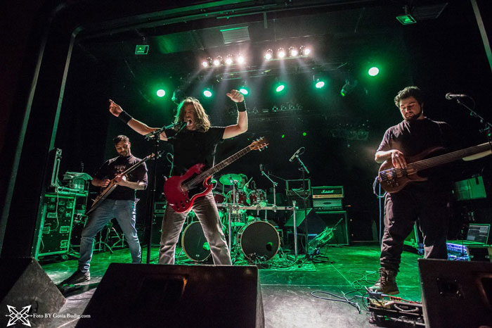 Live shot at Berlin's Columbia Theater of the Death Thrash Metal band Veins during their 2018 Europe Tour with Nile and Terrorizer.